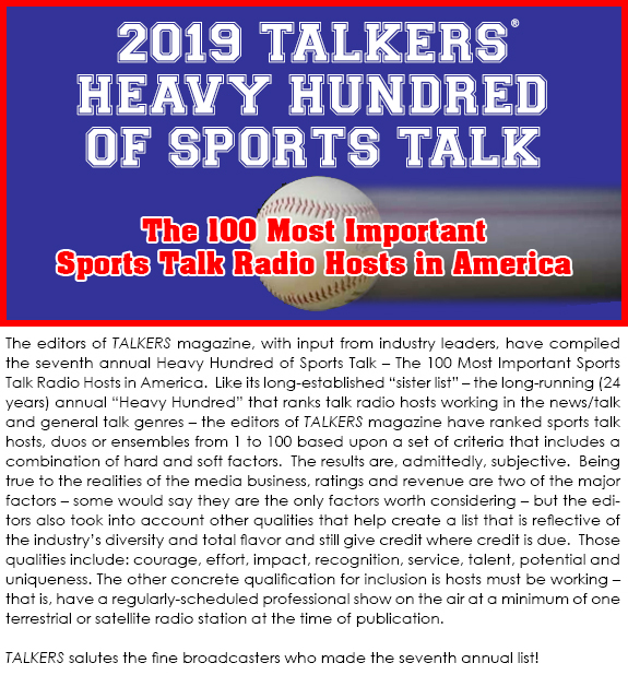 """0a18cbdce Search Results sport   TALKERS magazine – """"The bible of talk media."""""""