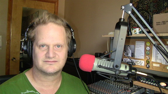 2 - The author does his show with Electro-Voice RE-20 mic