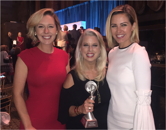 Cumulus Women at the Gracies. Pictured here (at center) is WABC, New York  personality Rita Cosby holding her fifth Gracie Award from the Alliance for  Women ...