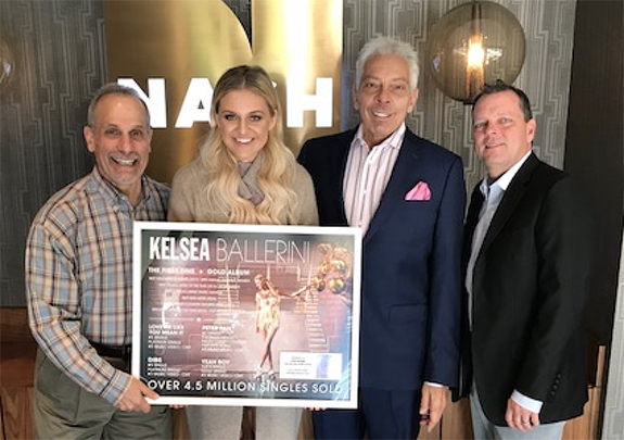 Kelsea Ballerini Thanks the NASH Folks! Country sensation Kelsea Ballerini  is pictured above on the NASH Campus of Cumulus Media in Nashville  presenting a ...