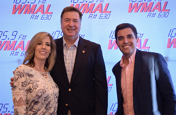 "WMAL Diner Tour — Former Virginia Governor George Allen (center) is  pictured above with joins WMAL's ""Mornings on The Mall"" co-hosts Mary  Walter (left) and ..."