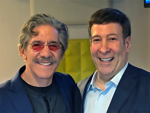 Mark Simone Welcomes Geraldo Rivera. 710 WOR, New York midday personality  Mark Simone (right) poses for a pic with news and talk legend Geraldo  Rivera ...