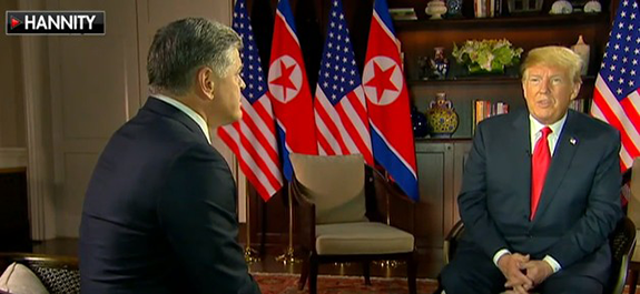 9bf35fbc78a Hannity Gets First Post-North Korea Meeting Sit-Down with Trump. On his  Premiere Networks nationally syndicated radio program yesterday afternoon,  ...