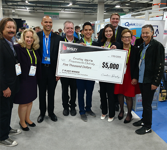 bb6d8f08736a Pictured above are the winners of Beasley Media Group s Media Innovation  Hackathon initiative at CES 2019. Done in collaboration with the University  of ...