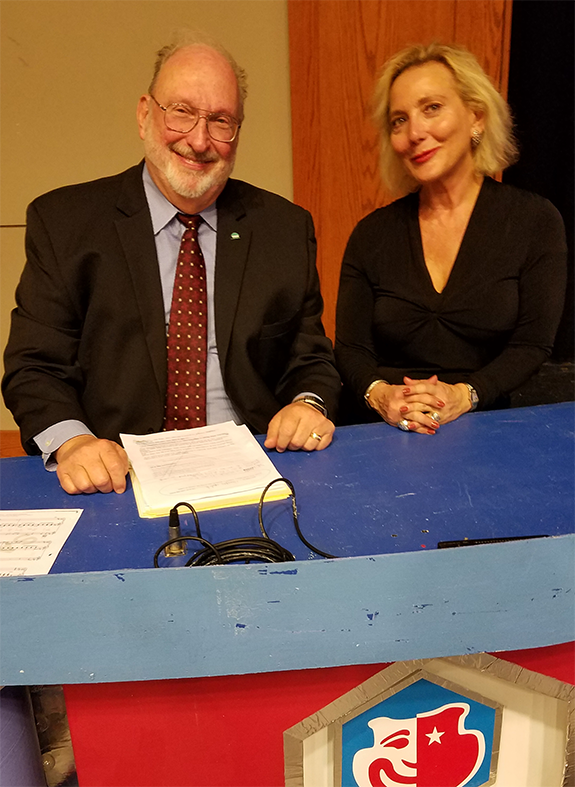 official photos 5e202 19e7b Hexagon 2019  Romp in the Swamp. Nationally syndicated late-night talk show  host Jim Bohannon (left) poses for a photo with former NBC anchor Jackie  Nedell ...