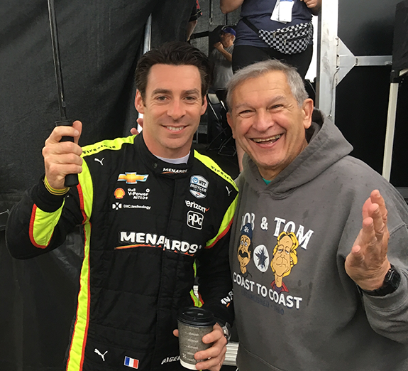 best website e7ce2 c1814 Vuolo was in Indy to visit the Bob   Tom Carb Day remote broadcast at the  Indy 500 grounds when he took the pic with Pagenaud.